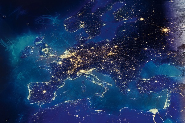 Night view of the EU from space. Photograph: Capitanoseye/Shutterstock