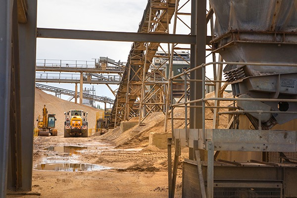 Machinery in cement factory. Photograph: Irstone/123RF