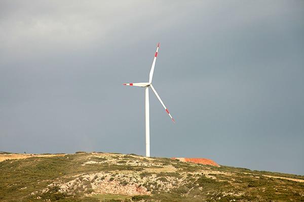 Wind turbine on a hill. Photograph: Safak Cakir/123RF