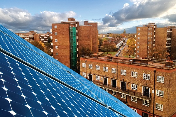 Banister House estate: 40 flats share renewable electricity from solar panels installed on 17 blocks using a blockchain to record energy 'transactions'