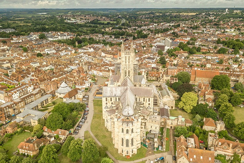 Aerial view of Canterbury