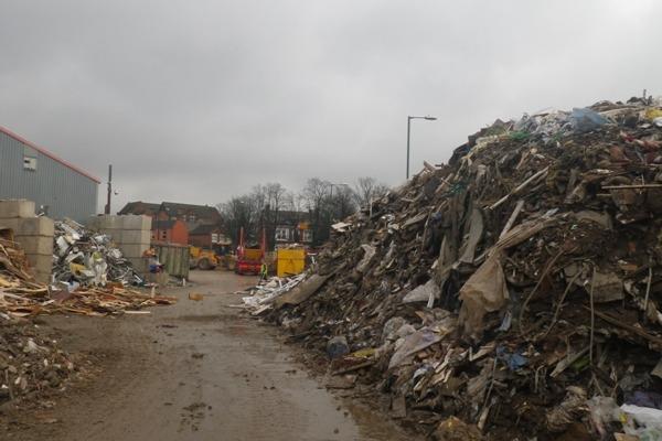 Waste at Colson Transport premises