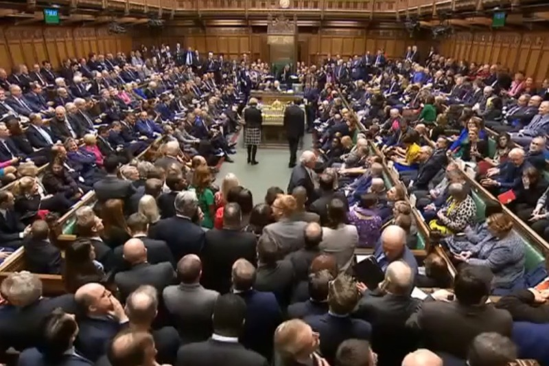 The House of Commons following its vote on the Brexit deal