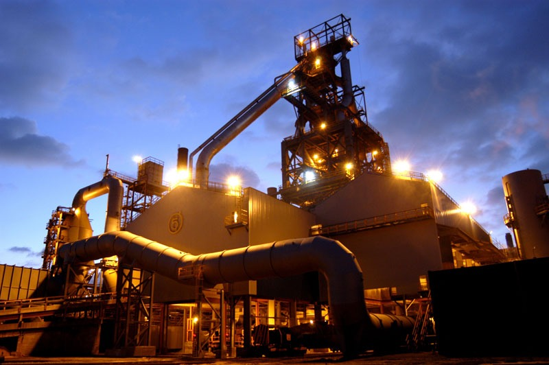 Port Talbot steelworks' blas furnace: steel is one of the most vulnerable sectors to carbon leakage, courtesy of Corus