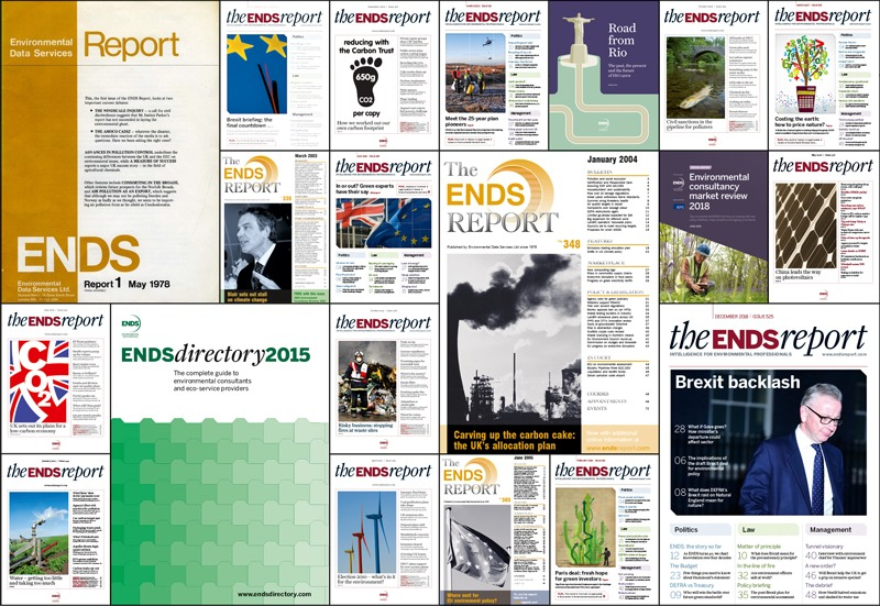 Montage of ENDS Report covers
