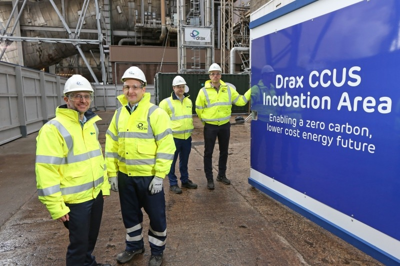 Drax's BECCS system could effectively remove CO2 from the atmosphere, says the firm