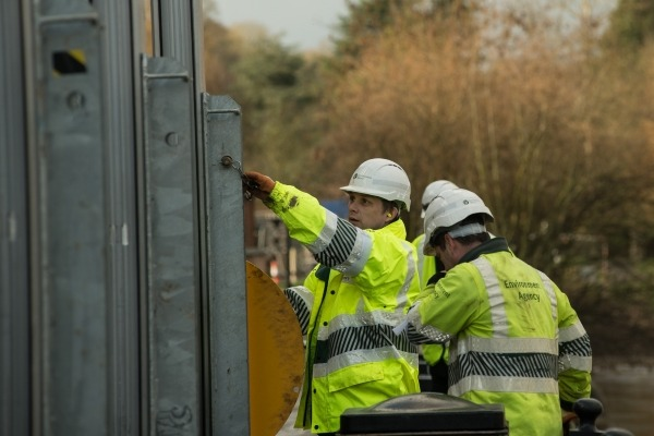 Environment Agency officers at work