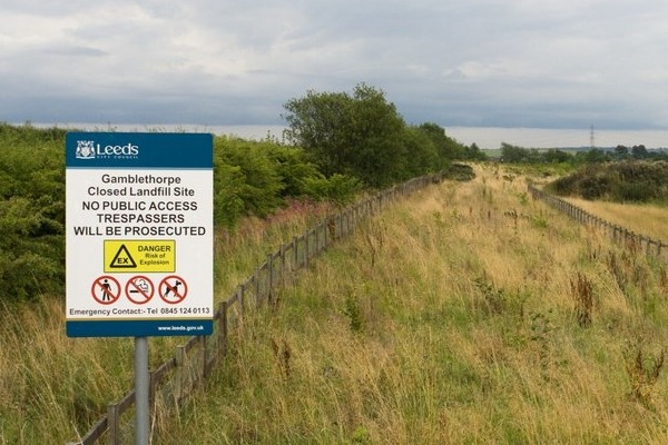Gamblethorpe closed landfill site
