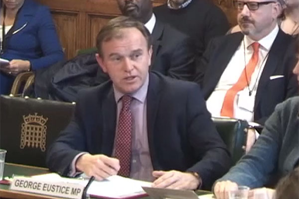 George Eustace MP before Environmental Audit Committee