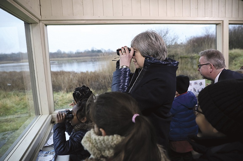 Theresa May and Michael Gove visit Wildlife and Wetlands Trust grounds