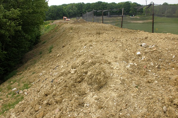 Mound of dirt