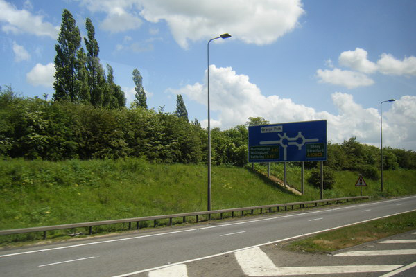 Junction 15 of the M1, Northamptonshire