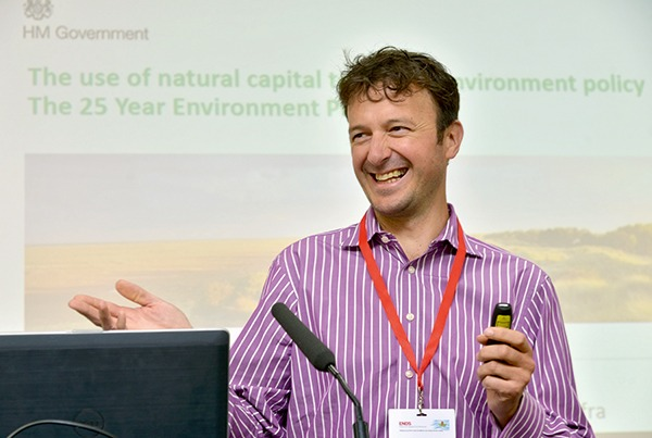 Nick Barter presenting at ENDS Natural Capital Conference