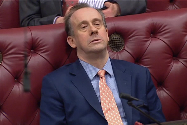Lord Callanan sitting in the House of Lords