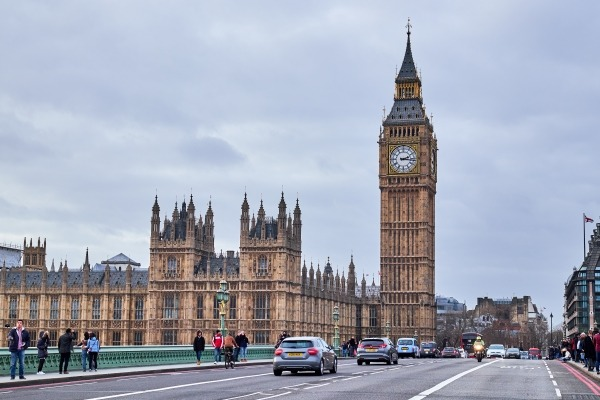 A view of parliament and Westminster Bridge
