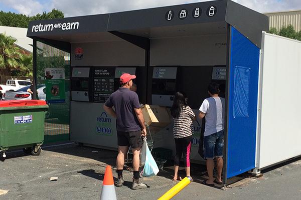 Reverse vending machine in New South Wales, Australia