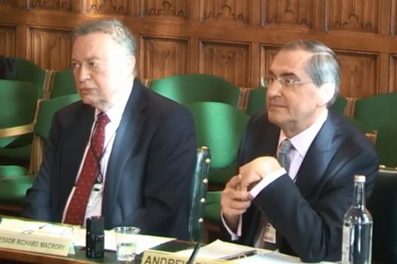 Professor Richard Macrory and Andrew Bryce