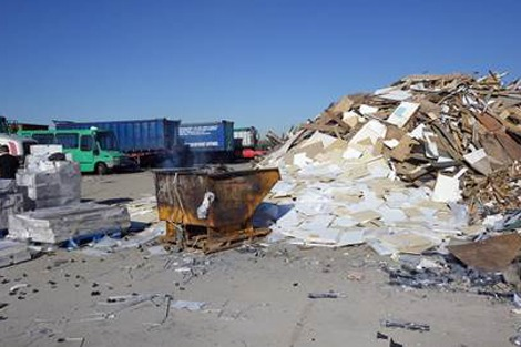 Waste on site at Ridgeway Park Farm, Throckmorton Airfield, Worcestershire