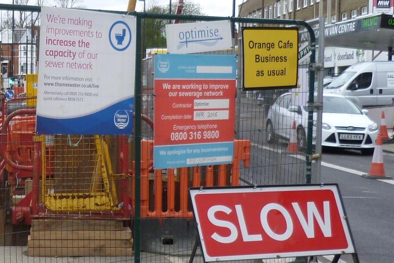 Thames Water conducting sewer repair works