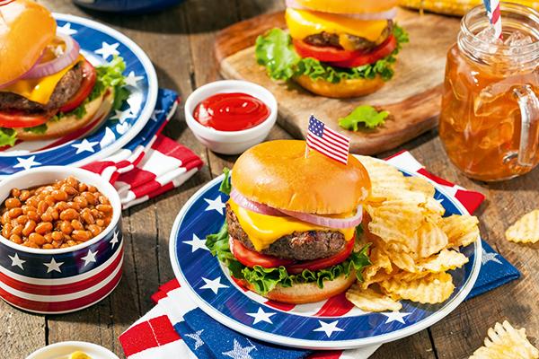 US beef burger