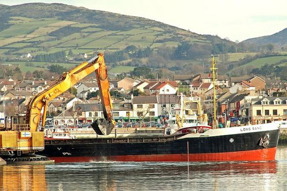 Boat moored at Warrenpoint Harbour