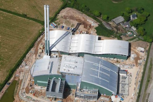Cornwall Energy Recovery Centre under construction