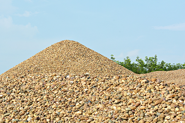 Pile of river gravel