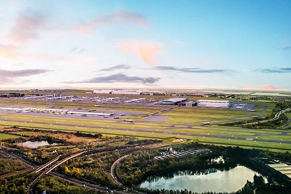 Illustration of Heathrow's proposed third runway
