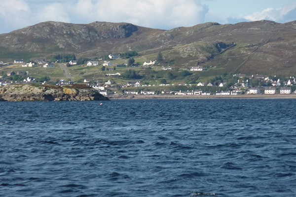 View of Gairloch village from the coast