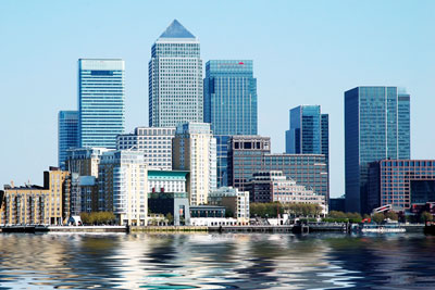 Canary Wharf: because of the economic slump banks are reluctant to invest in long-term renewables