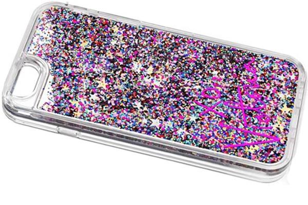 Phone case containing white sprit