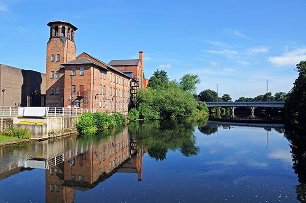 Silk Mill, river Derwent, Derby