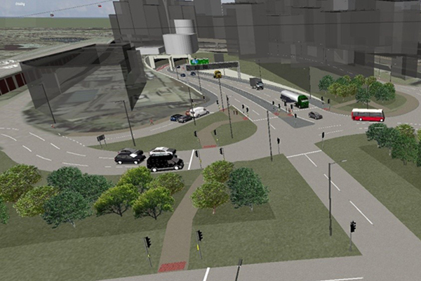 Artist's impression of Silvertown Tunnel entrance