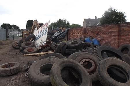 Tyre dump