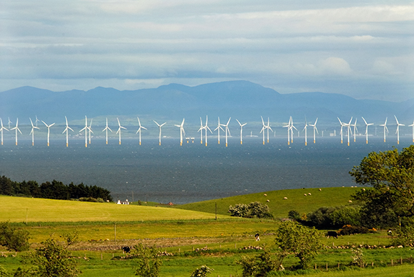 Offshore wind farm in Scotland
