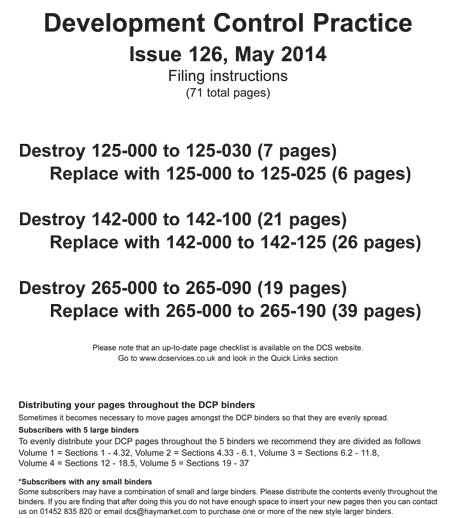 Issue 126 Filing Instructions