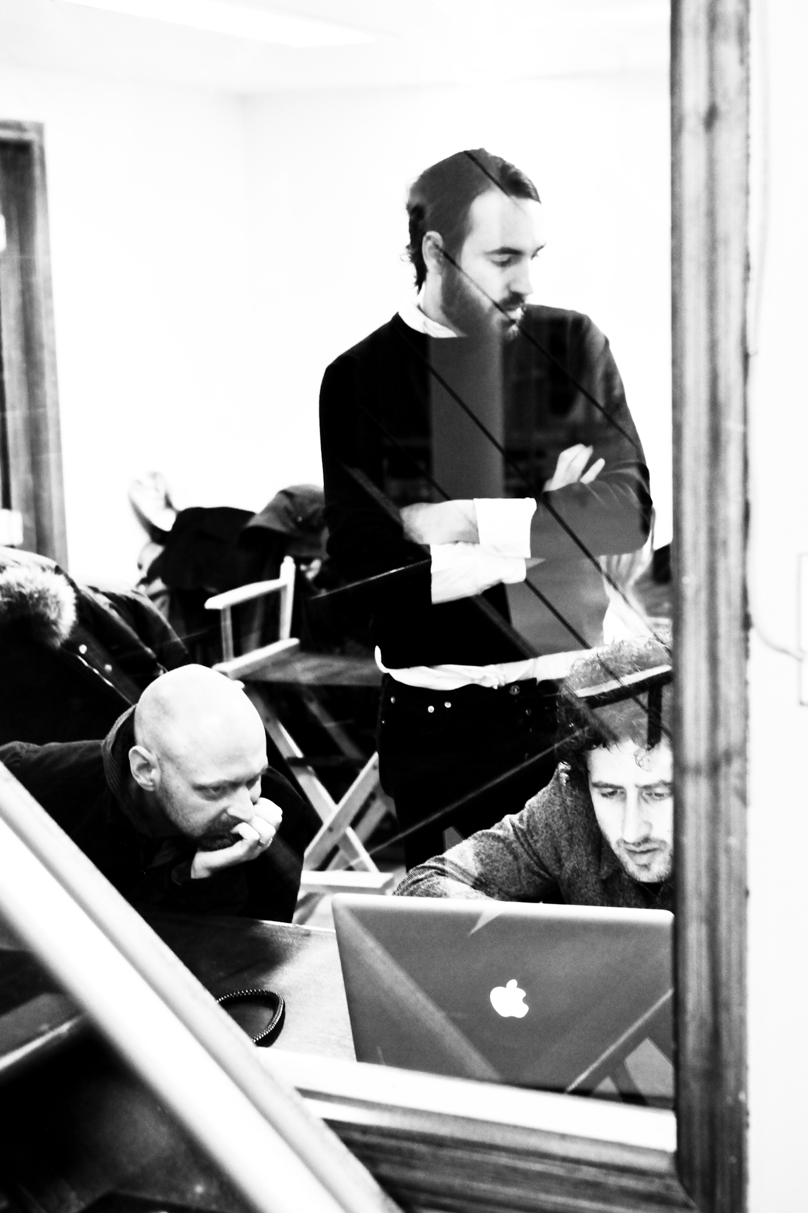 Jan Jacobs, Leo Premutico and Ferdinando Verderi - Nov 2007 on set for their 'Consumer is the medium' website production.
