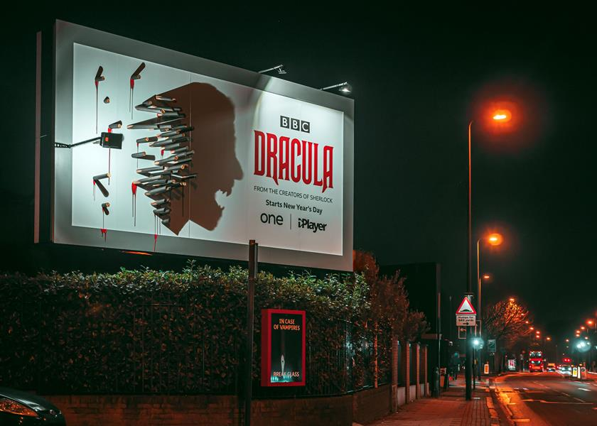 Dracula: Billboards unveiled in London and Birmingham