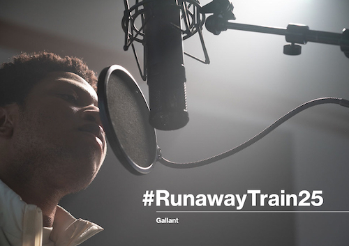 photo of the Runaway Train 25 campaign