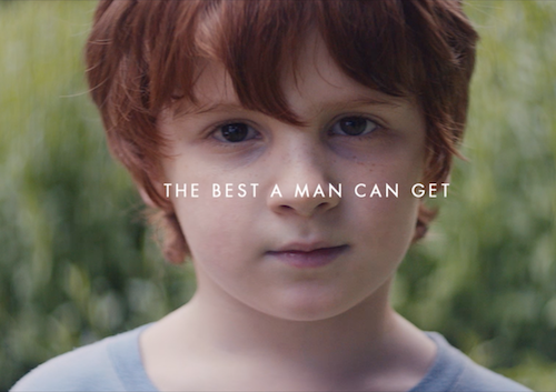 the Gillette We Believe campaign with the text, The best a man can get