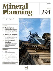 Mineral Planning cover