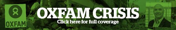 Oxfam crisis banner
